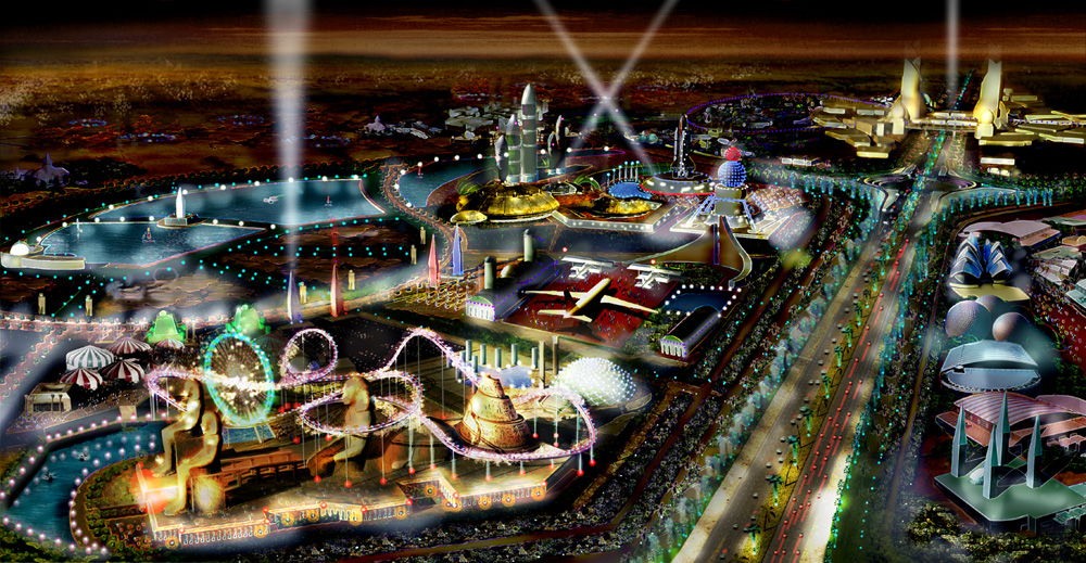 Currently, the largest amusement park collection in the world is Walt Disney World Resort in Orlando , which is also the largest single-site employer in the United states with 58,000 employees. Dubailand will be twice the size.