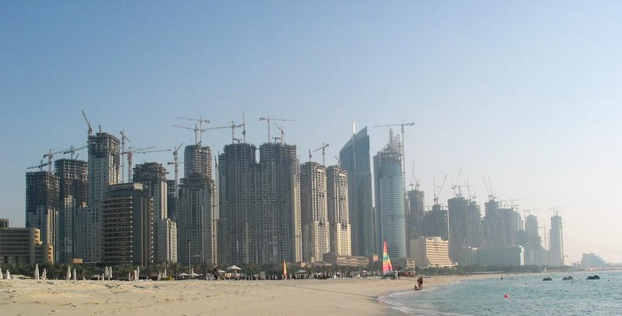 Dubai is said to currently have an estimated 15-25% of all the world 's cranes!!