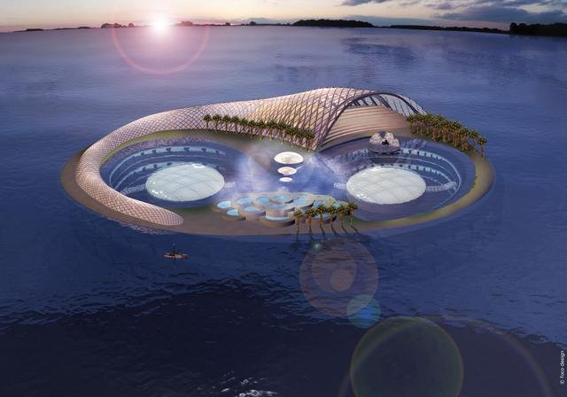 Hydropolis, the world's first underwater hotel. Entirely built in Germany and then assembled inDubai, it is scheduled to be completed by 2009 after many delays.
