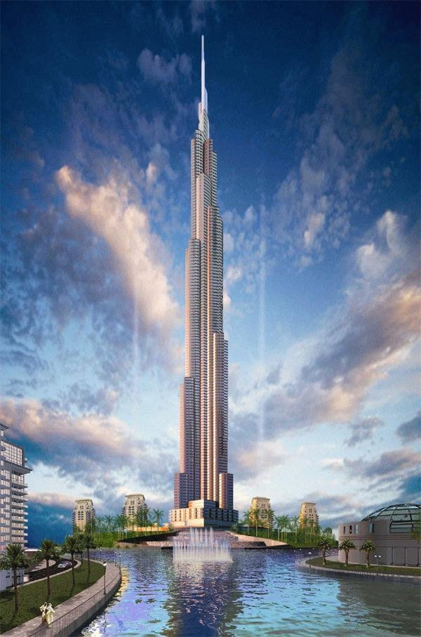 The Burj Dubai. Construction began in 2005 and is expected to be complete by 2008. At an estimated height of over 800 meters, it will easily be world's tallest building when finished. It will be almost 40% taller than the the current tallest building, the Yaipei 101.