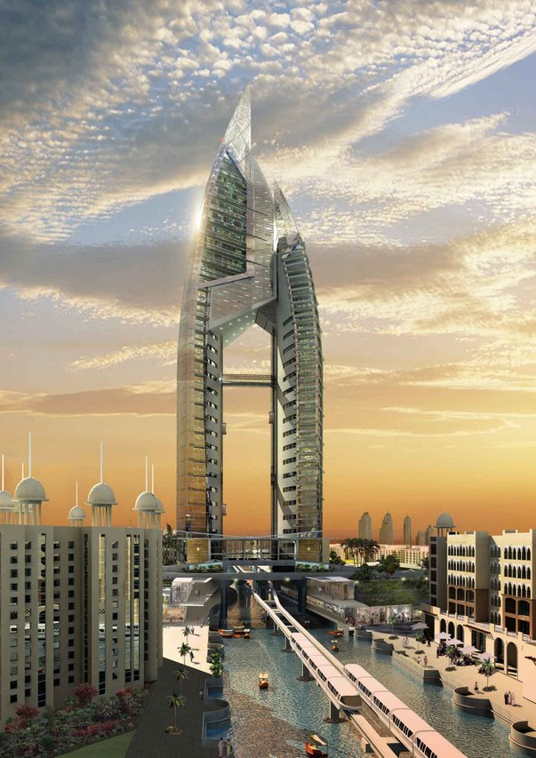 The Trump International Hotel & Tower, which will be the centerpiece of one of the palm islands, The Palm Jumeirah.