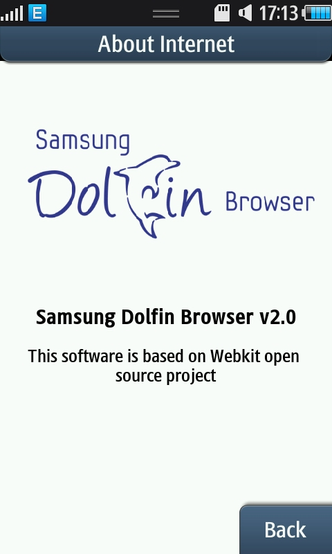Samsung Wave's Dolphin Browser