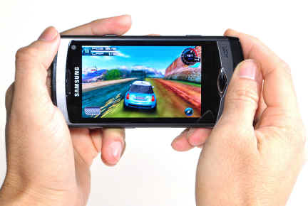 Asphalt 5 on the Samsung Wave