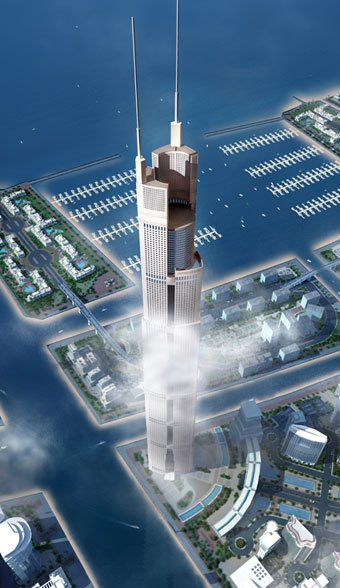 Recently it was announced that the final height of this tower will be 1200 meters. That would make it more than 30% taller than the Burj Dubai and three times as tall as the Empire State Building.