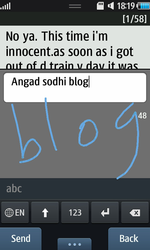 Handwriting Recognition on the Samsung Wave